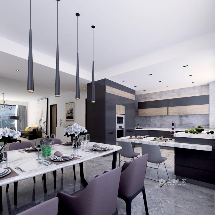 经典的现代主义生活 260平米现代大宅-客厅效果图及设计说明