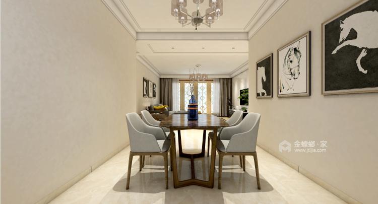 最爱中国风 160平米新中式生活-餐厅效果图及设计说明