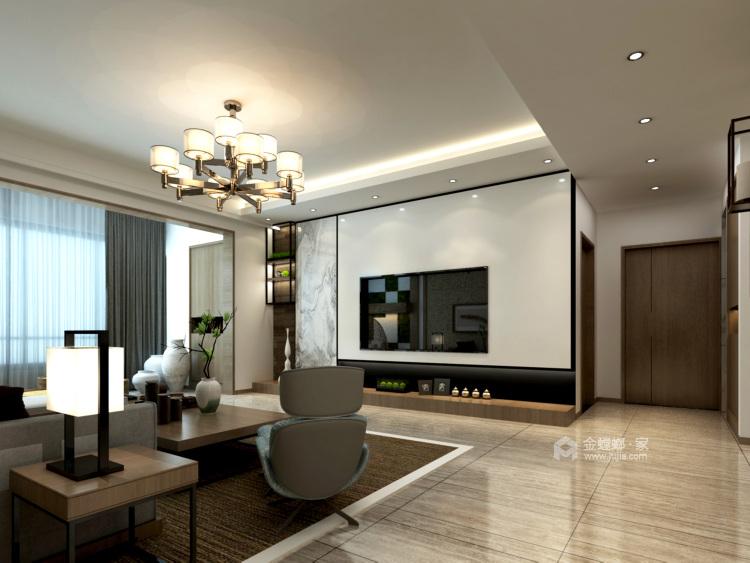 180㎡的新中式大宅,优雅有气质-客厅效果图及设计说明