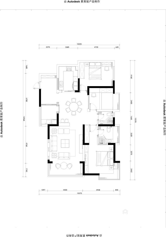 138平現代港式輕奢風格,明快時尚-平面設計圖及設計說明