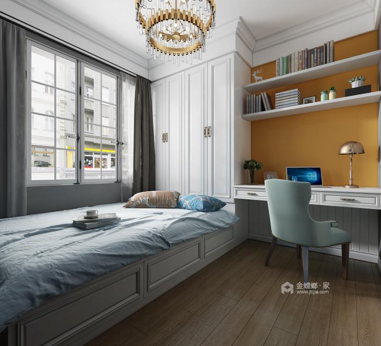 大色塊打造的112平濃郁北歐風-臥室效果圖及設計說明