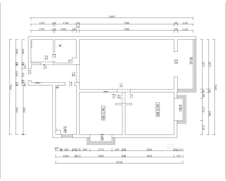 暖色调满足储物功能的家-业主需求&原始结构图