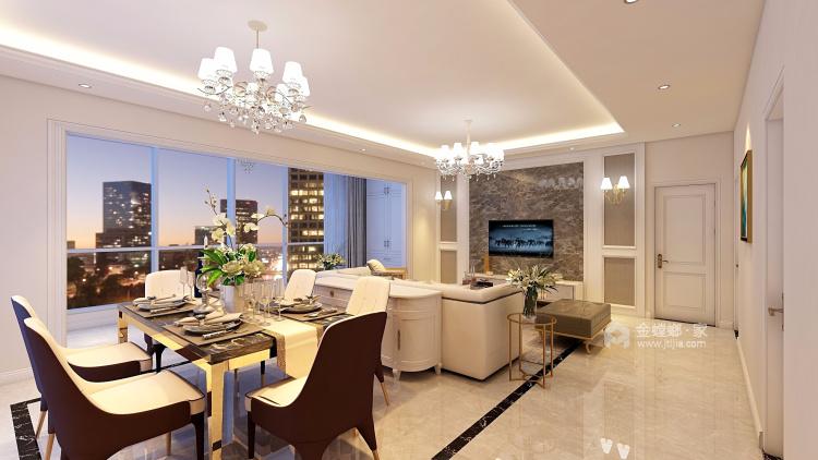 180平優雅浪漫簡歐風,大氣典雅-餐廳效果圖及設計說明