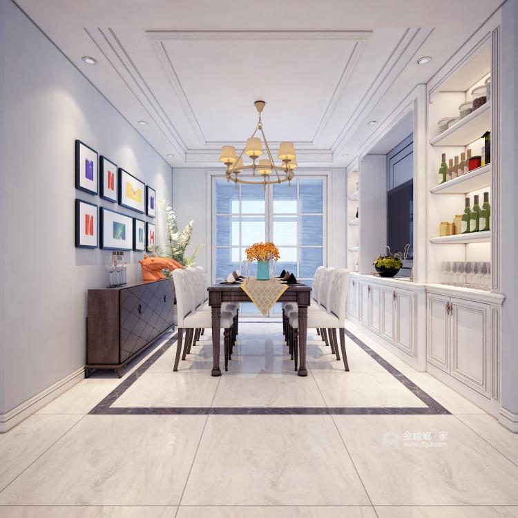超大海景房搭配简约美式,美!-餐厅效果图及设计说明