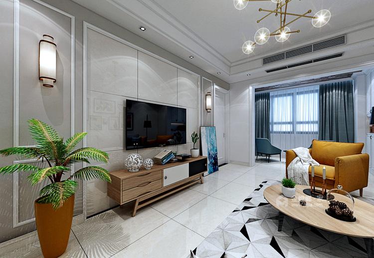紫荊城邦101北歐風,平春意盎然,清新唯美-客廳效果圖及設計說明