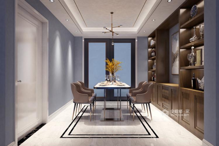 自由自在的都市生活 125平米现代简约风-餐厅效果图及设计说明