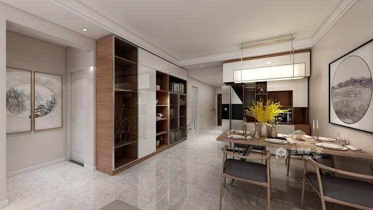 暖色调满足储物功能的家-餐厅效果图及设计说明