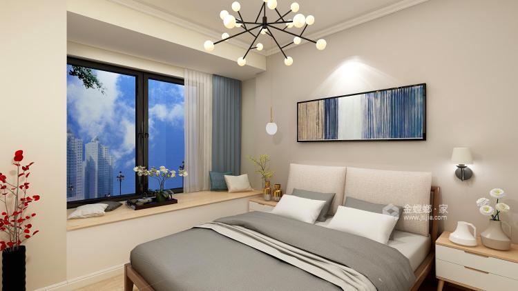 91平暖色系現代簡約風,溫馨大方-臥室效果圖及設計說明