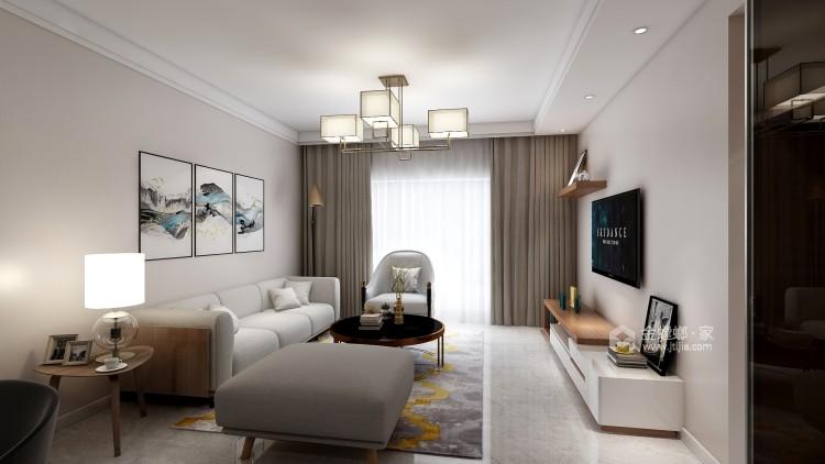 暖色调满足储物功能的家-客厅效果图及设计说明