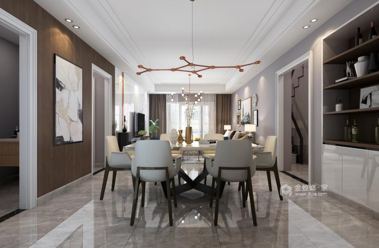 208平現代風格美家,簡潔舒適溫馨-餐廳效果圖及設計說明