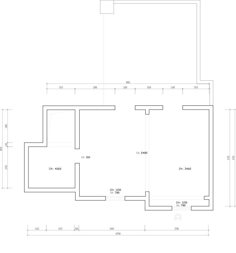 208平現代風格美家,簡潔舒適溫馨-業主需求&原始結構圖