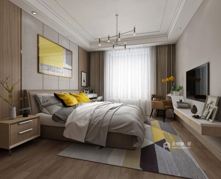 208平現代風格美家,簡潔舒適溫馨-臥室效果圖及設計說明