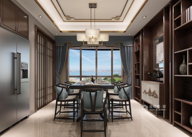190平大氣簡潔新中式風,格調十足-餐廳效果圖及設計說明
