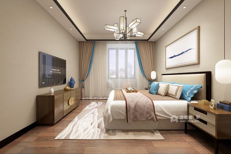 暖色系大氣新中式,溫暖不失意境-臥室效果圖及設計說明