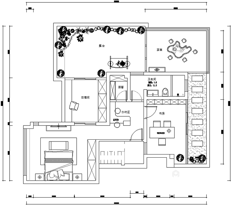 動靜結合,上善名郡190平新中式風格美居-平面設計圖及設計說明