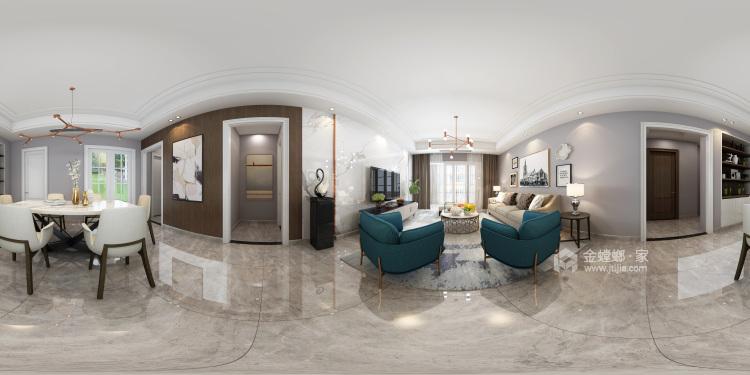 208平現代風格美家,簡潔舒適溫馨-客廳效果圖及設計說明