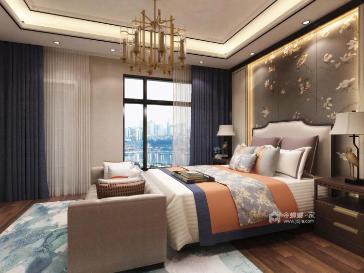 動靜結合,上善名郡190平新中式風格美居-臥室效果圖及設計說明