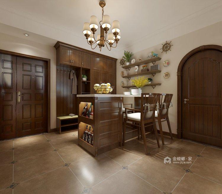 鶴城橡樹灣91平美式風格,大氣之美-餐廳效果圖及設計說明
