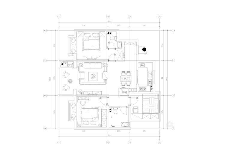 清爽北歐風,淺色系的家居如夢之旅-平面設計圖及設計說明