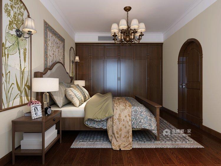 鶴城橡樹灣91平美式風格,大氣之美-臥室效果圖及設計說明