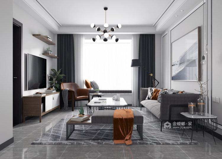 清爽北歐風,淺色系的家居如夢之旅-客廳效果圖及設計說明