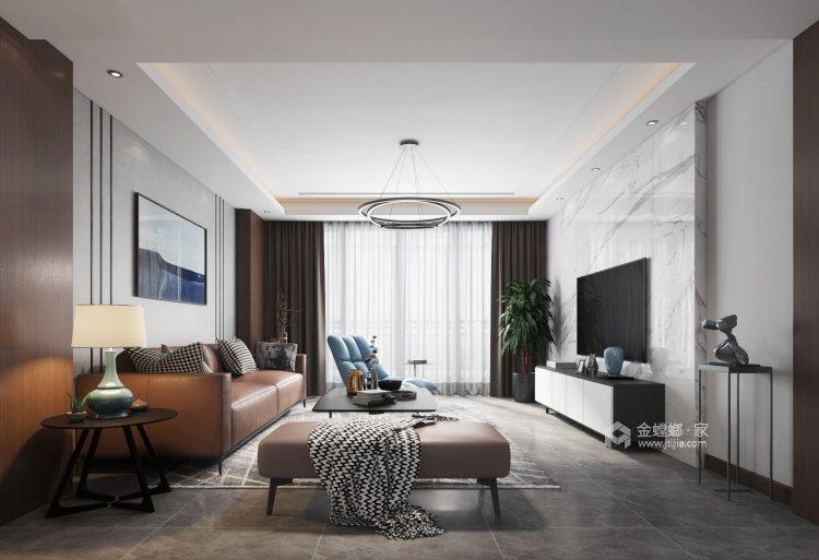 簡潔優雅現代風,靜謐舒適-客廳效果圖及設計說明
