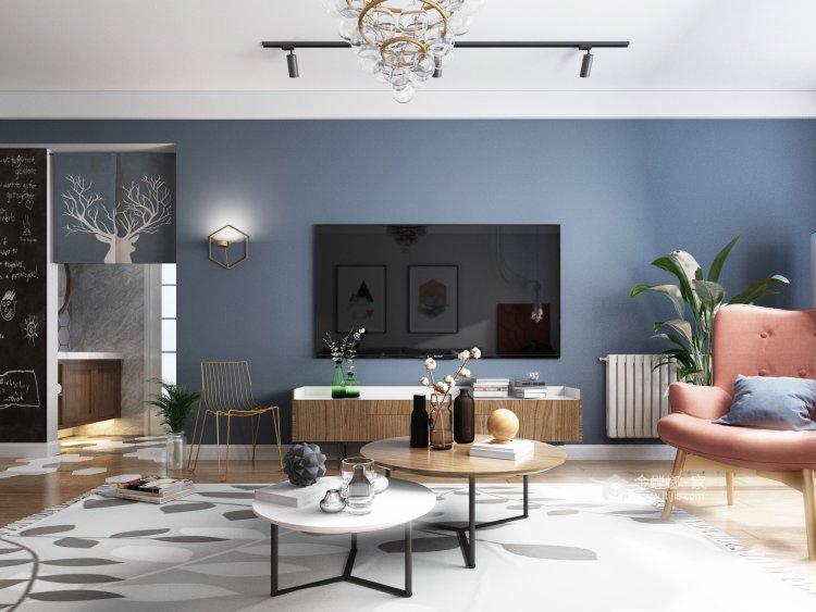 簡約明朗現代風,彰顯主人品味-客廳效果圖及設計說明