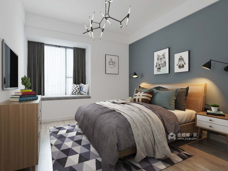 簡約明朗現代風,彰顯主人品味-臥室效果圖及設計說明