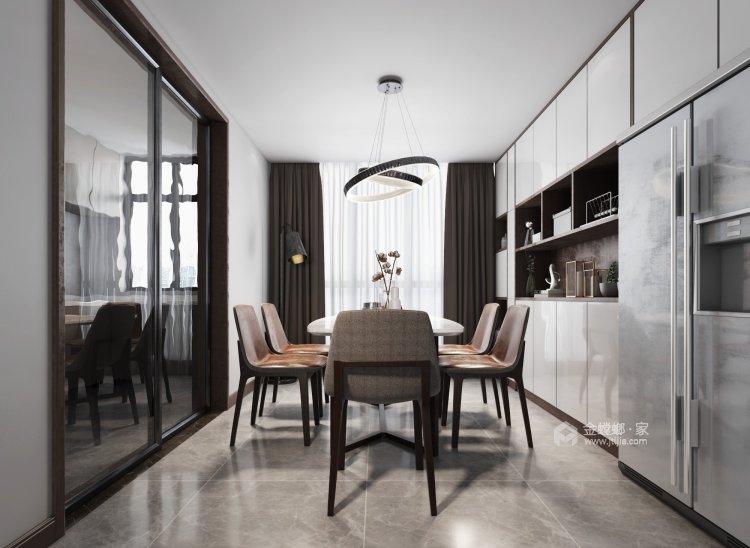 簡潔優雅現代風,靜謐舒適-餐廳效果圖及設計說明