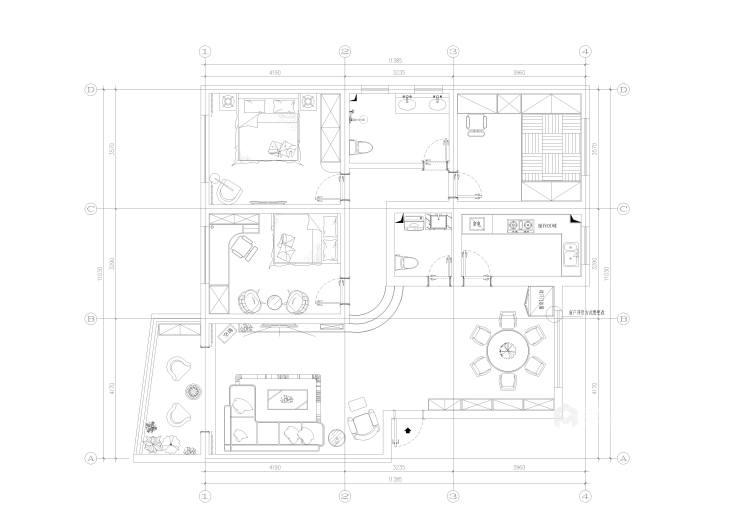 簡潔優雅現代風,靜謐舒適-平面設計圖及設計說明