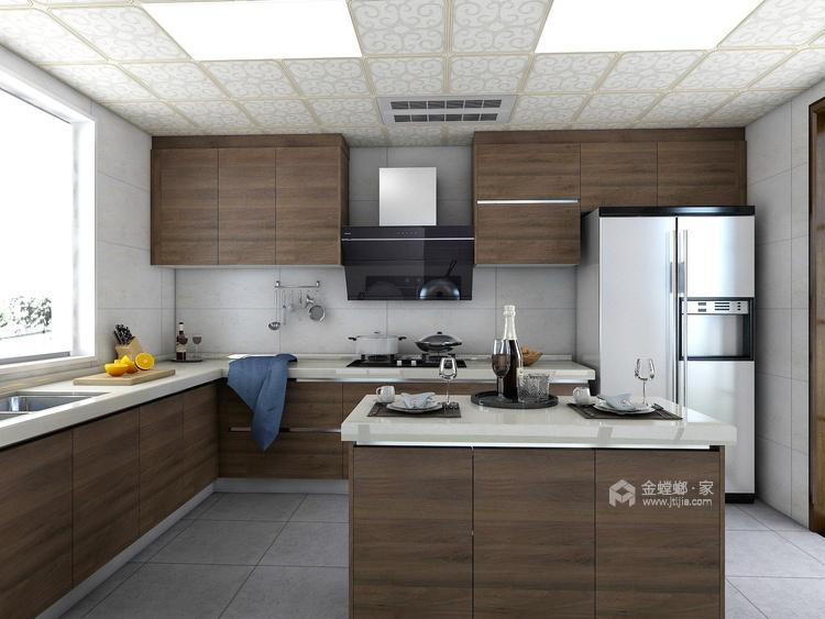 巧妙的色彩搭配打造高品质现代风-餐厅效果图及设计说明