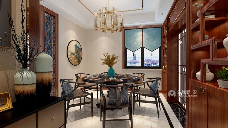 紫云府内敛新中式风,色彩柔和雅致-餐厅效果图及设计说明
