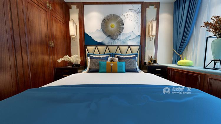 紫云府内敛新中式风,色彩柔和雅致-卧室效果图及设计说明