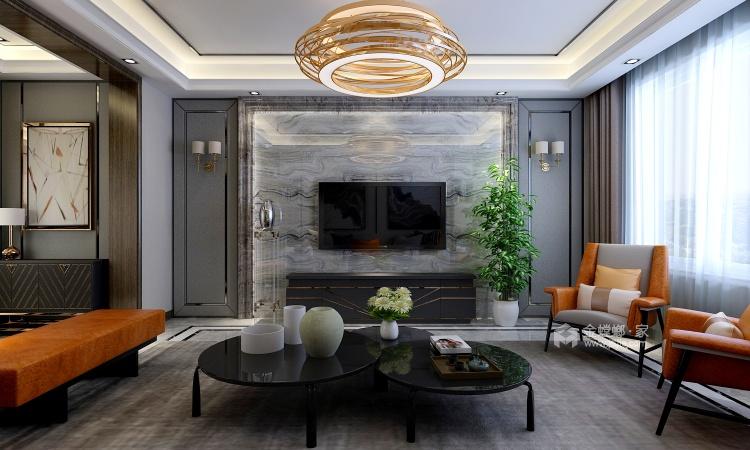 大理石背景墙+艺术气息橡木色,打造空间魅力-餐厅效果图及设计说明