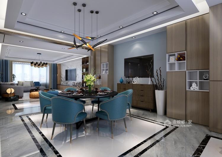 后现代混搭风 轻奢优雅的生活格调-餐厅效果图及设计说明