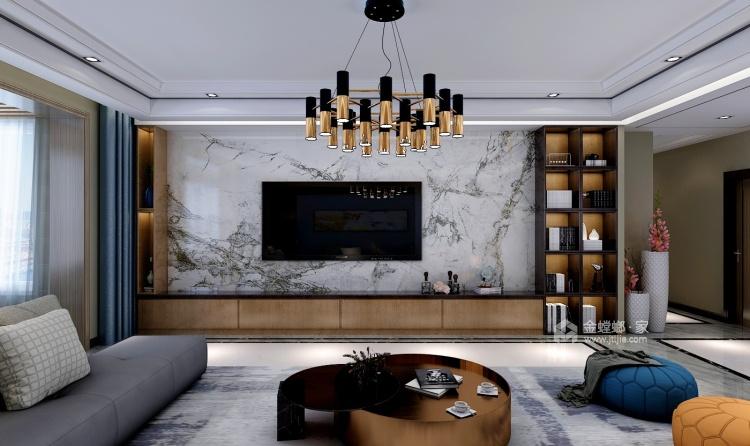 后现代混搭风 轻奢优雅的生活格调-客厅效果图及设计说明