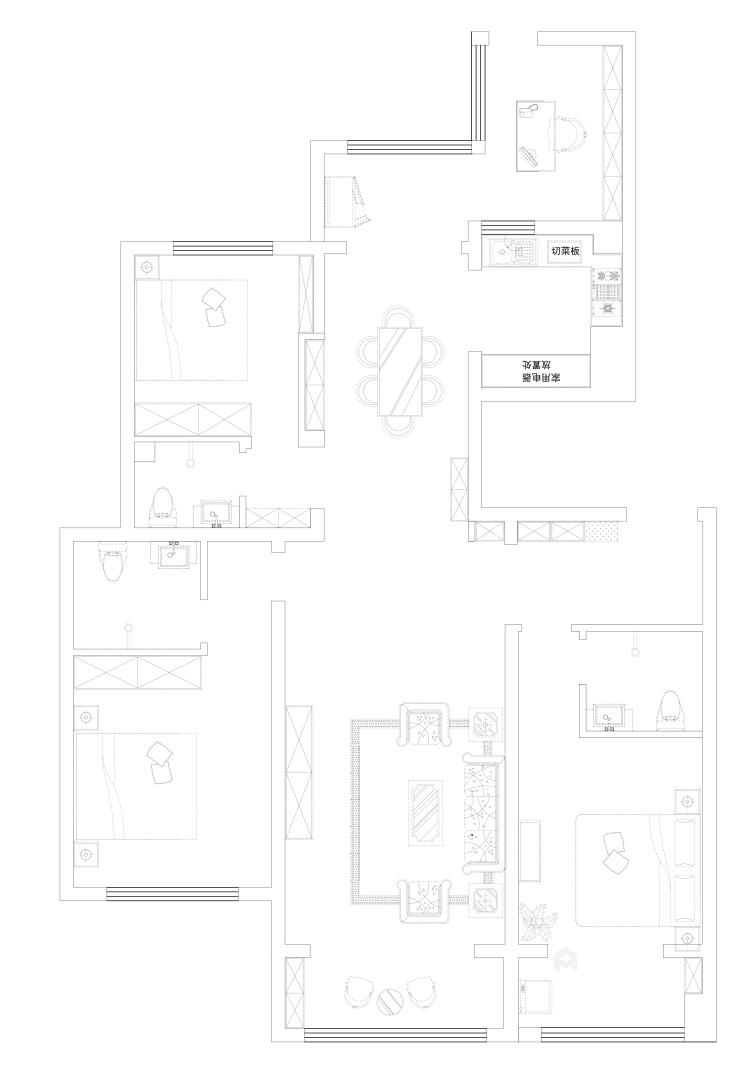 想要古典与高贵并存的家,欧式是最正确的选择-平面设计图及设计说明