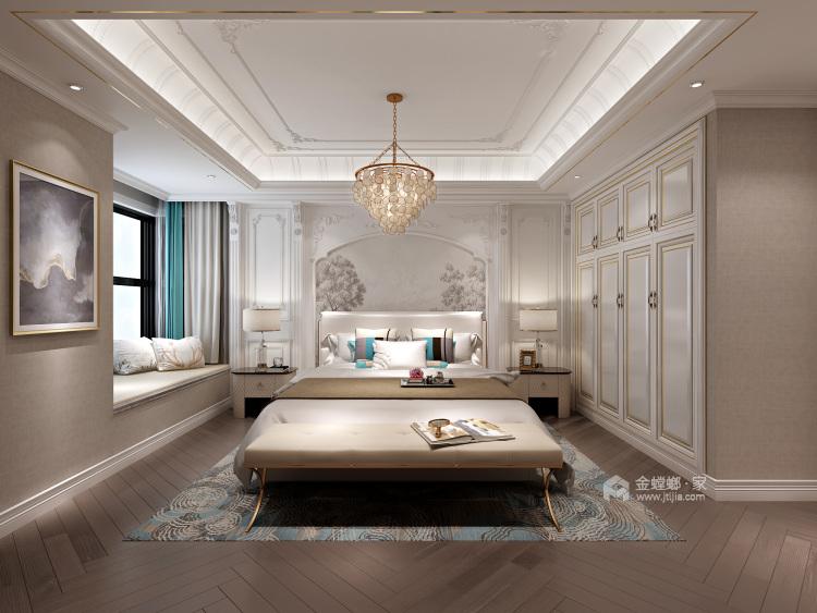 124平轻奢质感欧式风格,演绎浪漫法式优雅-卧室效果图及设计说明