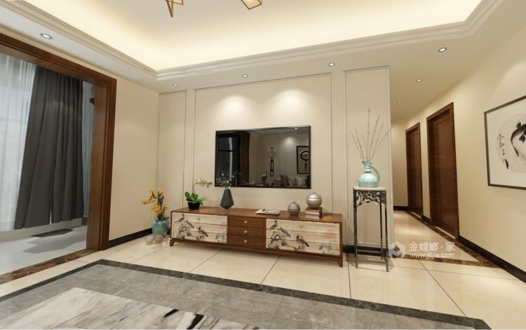 温馨大方的新中式-客厅效果图及设计说明