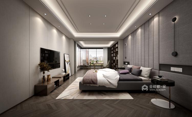 舒适打造优雅现代风-卧室效果图及设计说明