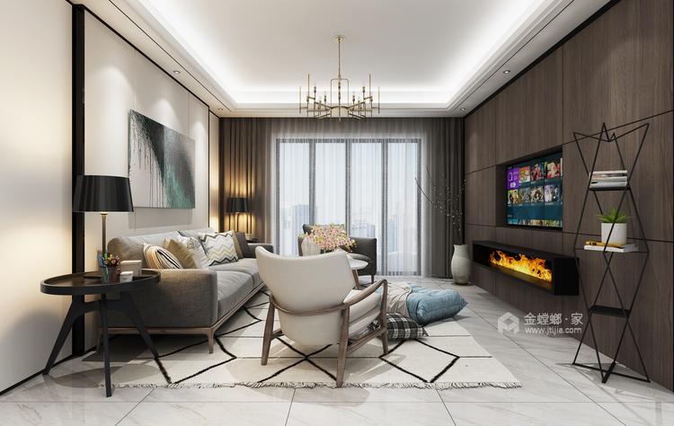 舒适打造优雅现代风-客厅效果图及设计说明
