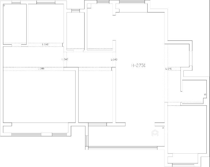舒适打造优雅现代风-业主需求&原始结构图