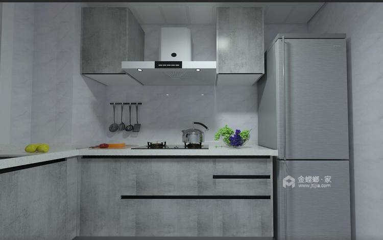 清新自然氛围的美式-厨房