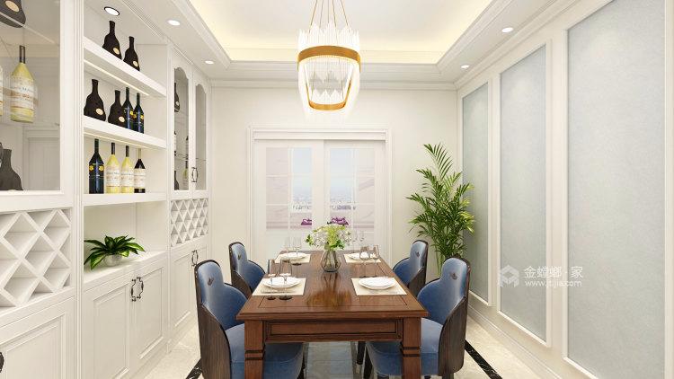 浅白配色,不愁装不出高级感-餐厅效果图及设计说明