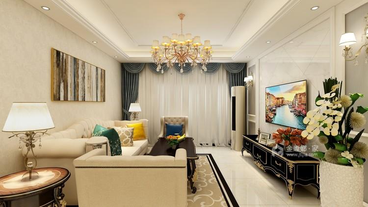 向往的美式风生活-客厅效果图及设计说明