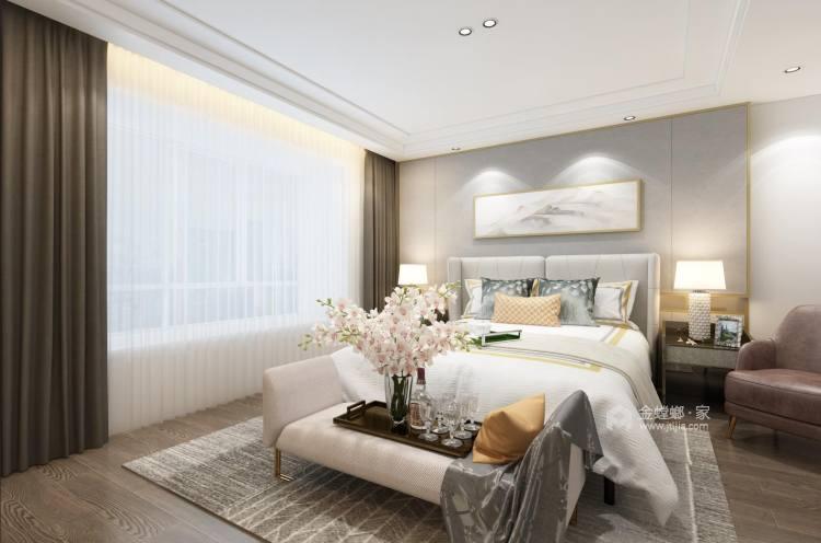 高雅轻奢的现代风-卧室效果图及设计说明