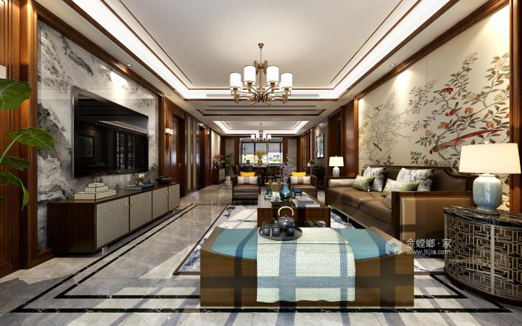 淡雅不失高贵中式的家-餐厅效果图及设计说明