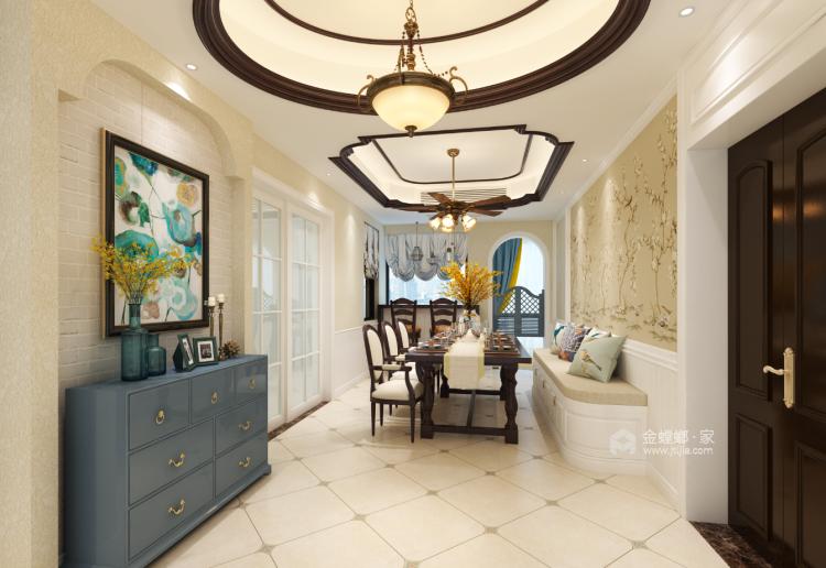 卡座:补充厨房的储物空间-餐厅效果图及设计说明