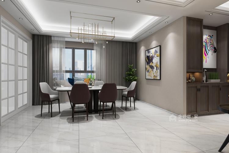 舒适打造优雅现代风-餐厅效果图及设计说明