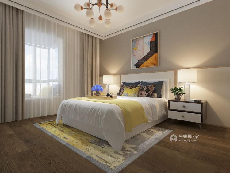暖色调满足储物功能的家-卧室效果图及设计说明